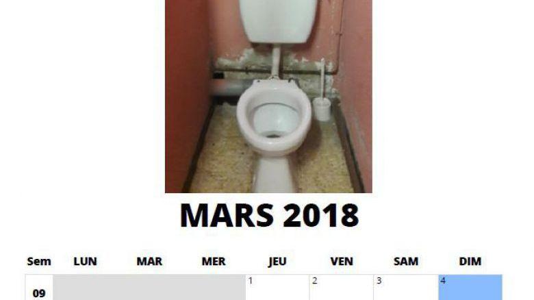 Le calendrier 2018 des parents d'élèves à Marseille dénonce la vétusté des écoles