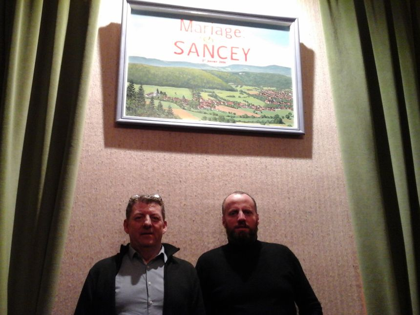 Yves Brand (ancien maire de feue Sancey-le-Long) et Frédéric Cartier, maire de Sancey... depuis presque toujours Sancey s'unir!