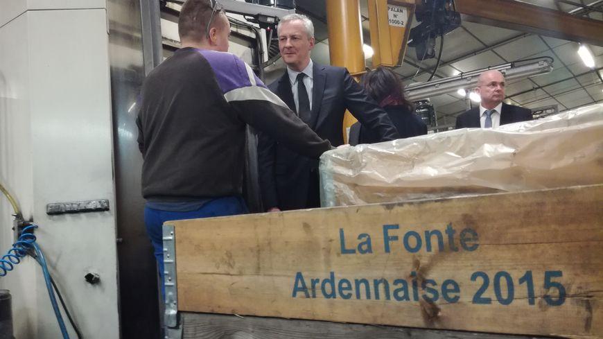 Bruno Le Maire est arrivé en fin d'après midi dans cette usine qui fête ses 90 ans d'existence.