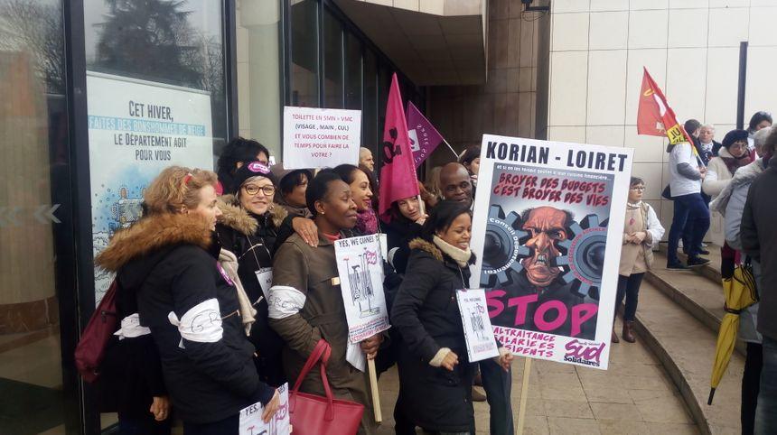 Des salariés du groupe privé Korian se sont mobilisés