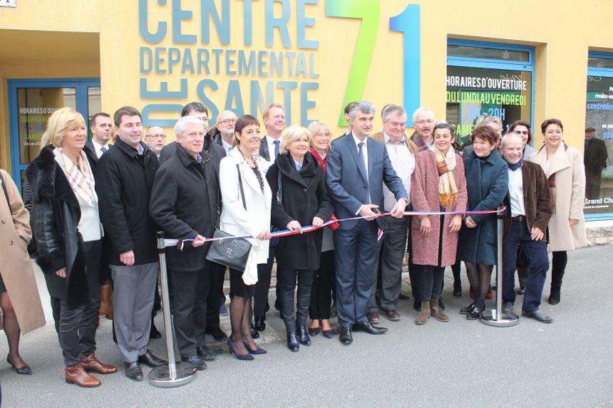 L'inauguration du 1er centre départemental de Santé par le président Accary