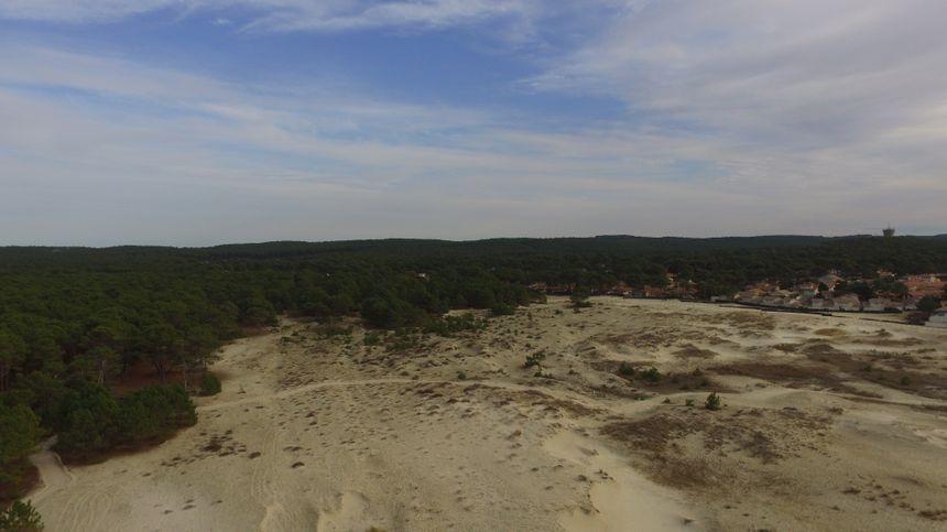 Les dunes du Vivier à Biscarrosse (vue drone)