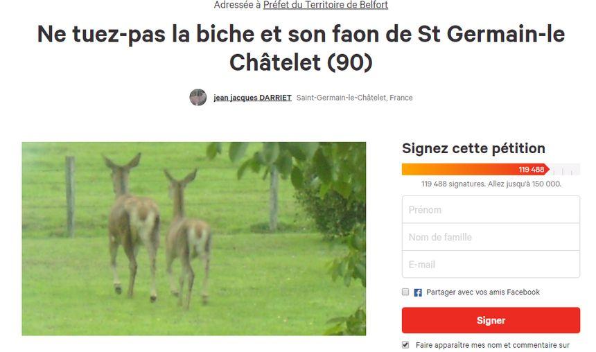 La pétition a recueilli près de 120 000 signatures