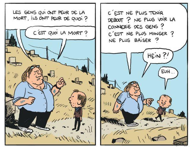 """""""Gérard, cinq années dans les pattes de Depardieu"""", de Mathieu Sapin."""