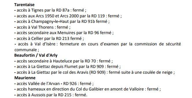 Bilan des routes fait par le département et la préfecture de Savoie.