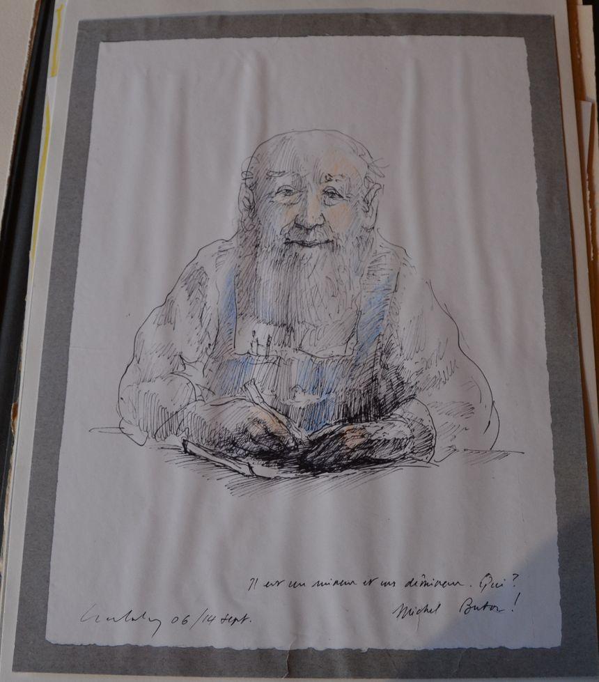 """Auto-portrait du """"célèbre inconnu"""" comme s'était surnommé Michel Butor - Aucun(e)"""