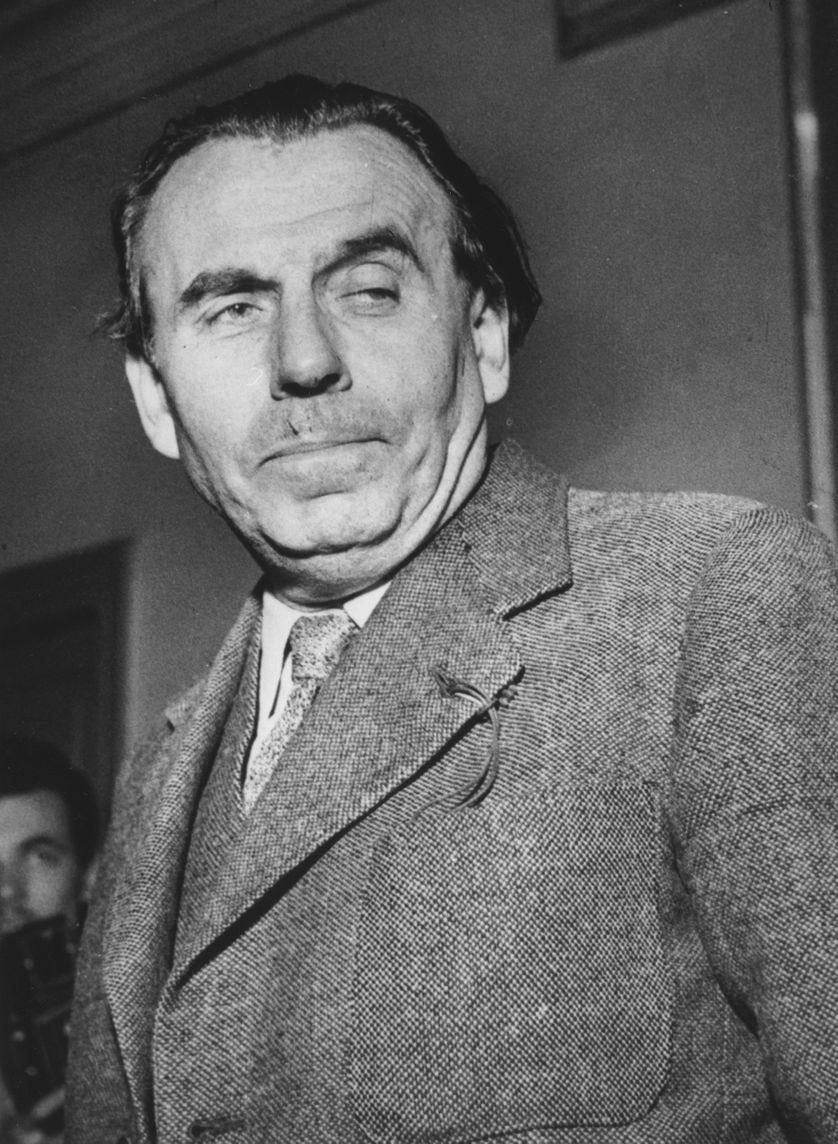 Louis-Ferdinand Céline en 1951, lors du procès où il sera amnistié.