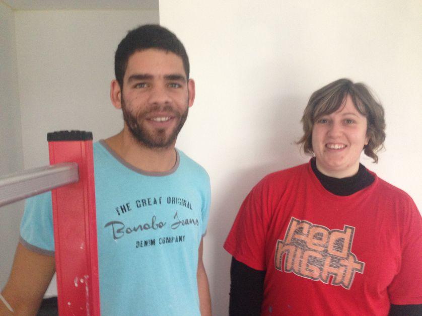 Audrey Mérand et Sébastien Vitour dans leur nouvelle maison