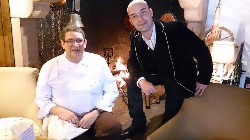 Philippe Laruelle, Maître Cuisinier de France (à gauche) aux côtés de Jérôme Prod'homme, de France Bleu Lorraine