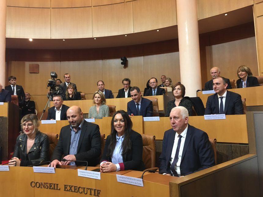 Le nouveau conseil exécutif de Corse