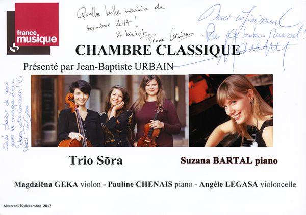 Livre d'or Trio Sora / Suzana Bartal