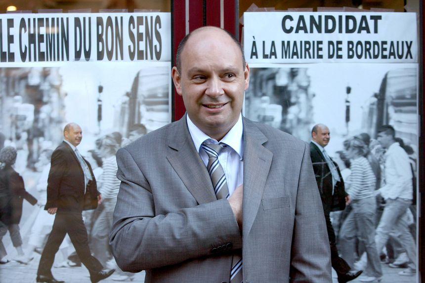 En 2008, voilà Marc Vanhove candidat à la mairie de Bordeaux.