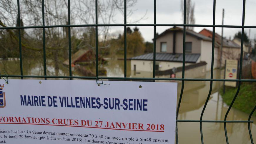 Le chemin de la Nourrée à Villenne-sur-Seine. Le 28.01.18