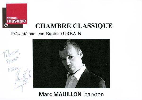 Livre d'or Marc Mauillon