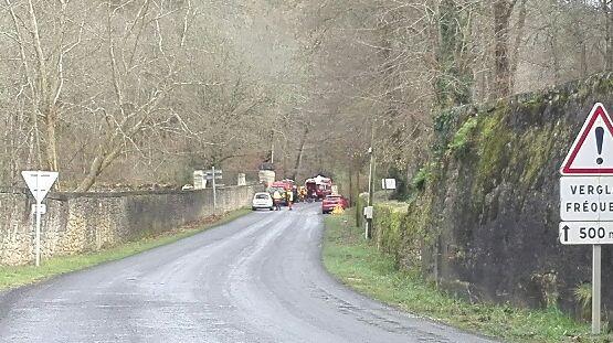 La départementale 35 a été coupée.
