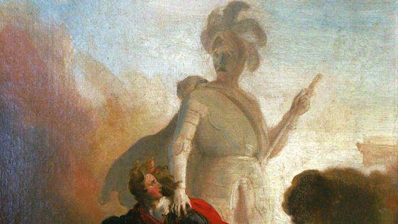 : Don Juan et le fantôme du Commandeur, peinture d'Alexandre-Evariste Fragonard (détail)