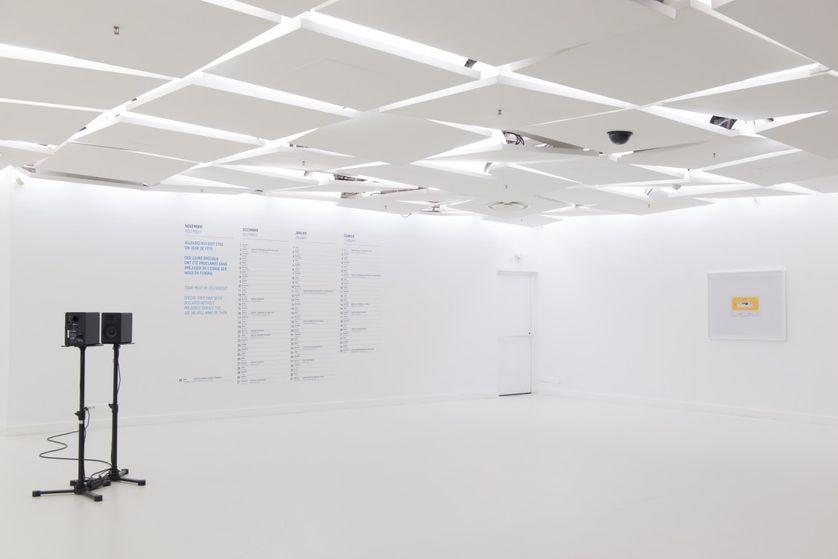 Vue de l'exposition « Always Someone Asleep and Someone Awake » 2017, Galerie des Galeries, Galeries Lafayette Haussmann