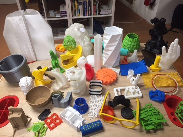 Différents objets obtenus grâce à une imprimante 3D