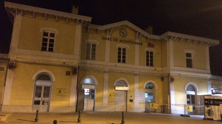 Gare de Montélimar dans la Drôme.