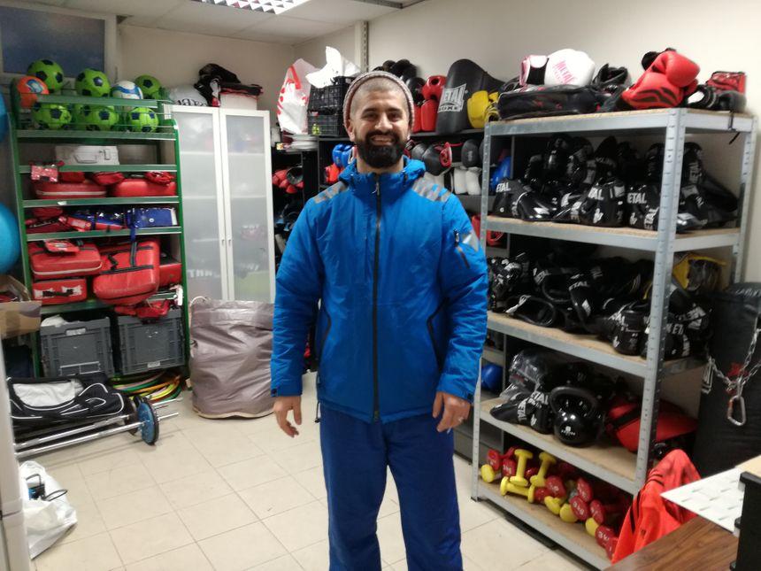 Amine Mihoub, fondateur de l'espérance Boxing Club des Buis à Valentigney