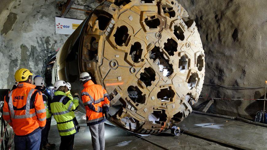 Le tunnelier Lilorosa a fini de percer la galerie le 14 décembre dernier