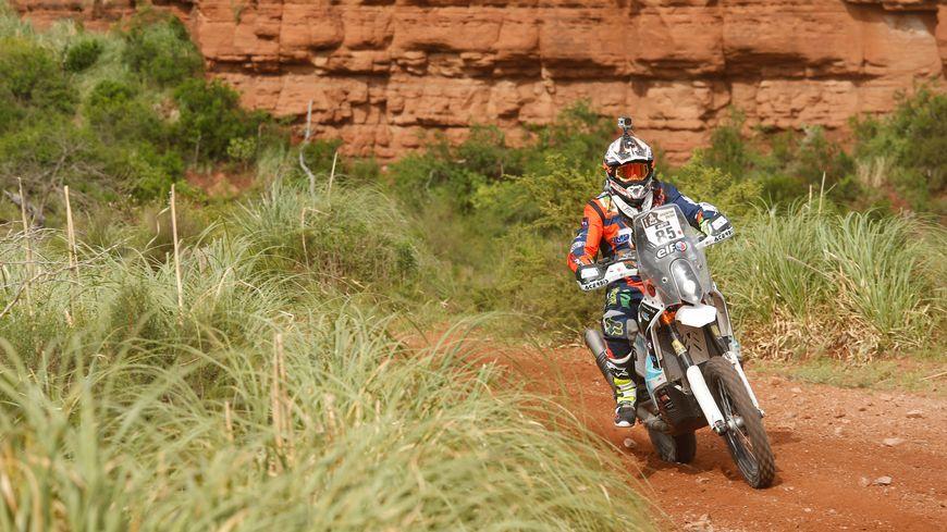 Nicolas Billaud lors de son premier Dakar en 2016