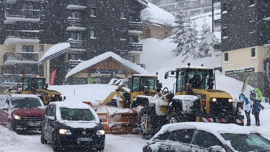 """La Savoie en vigilance orange aux avalanches et """"pluie-inondation"""". Ici, aux Saisies."""