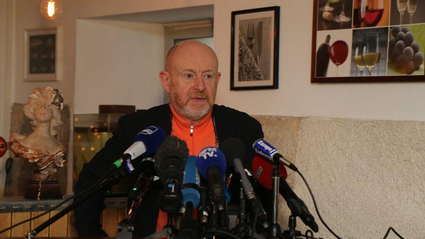 Jean-Marc Florand, l'avocat de la famille d'Alexia Daval lors de la conférence de presse à Besançon suite aux aveux de Jonathann