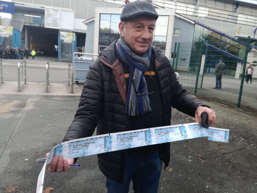 Ce supporter est venu acheter six billets pour un montant de 159 euros