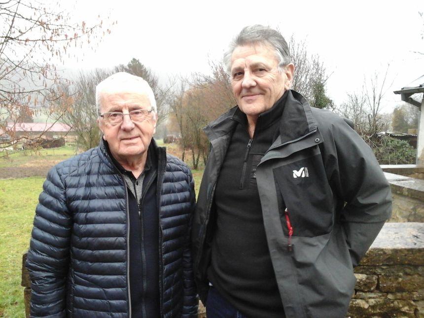 Jean-Claude et Maurice, du Club Rando du Vallon de Sancey