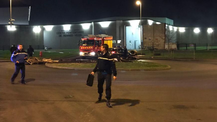 Pompiers et gendarmes ont été appelés à la prison de Rennes-Vezin