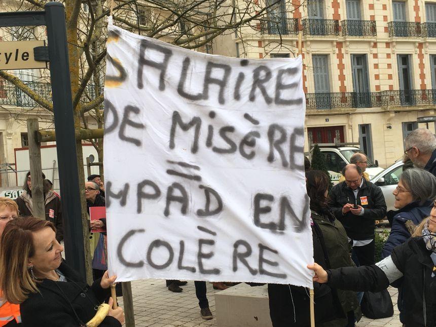 L'un des slogans de la manifestation.
