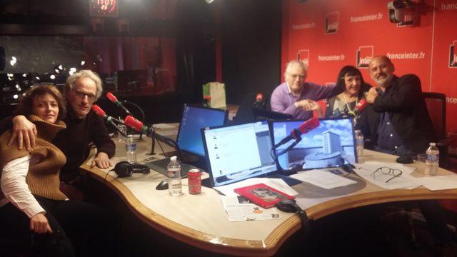 Vous les Femmes, de gauche à droite : Stéphanie Bataille, Hervé Pauchon, Albert Algoud, Christine Spengler, Daniel Morin