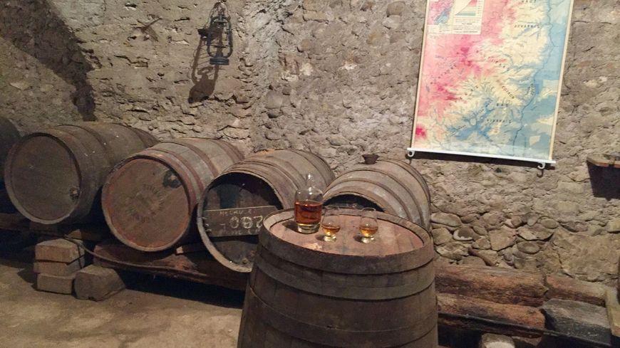 Les fûts de ce wisky d'Ardèche