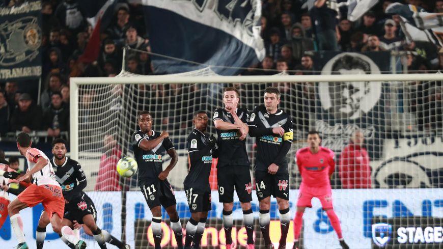 Lors du match Bordeaux-Montpellier le 20 décembre au Matmut Atlantique