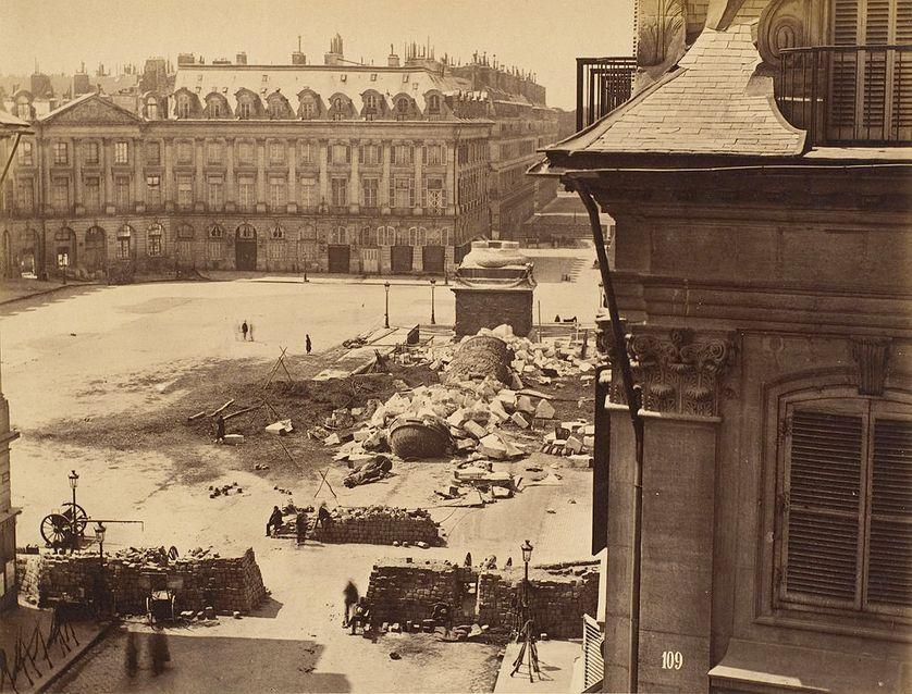 Chute de la colonne Vendôme, le 16 mai 1871