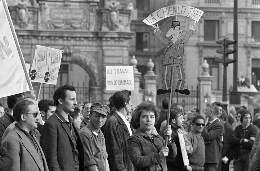 A Paris lors d'une manifestation le 29 mai 1968