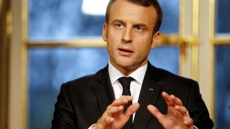 Emmanuel Macron lors de ses premiers vœux aux Français