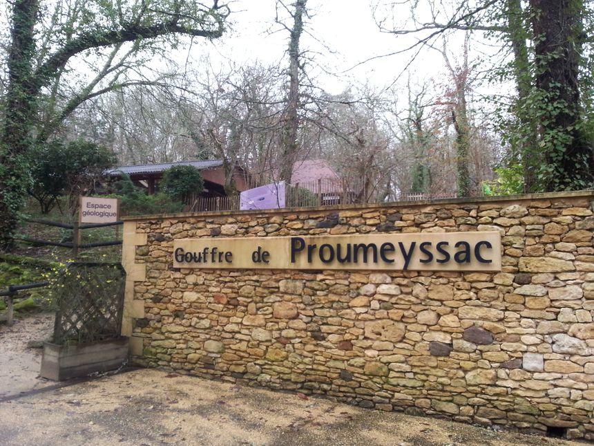 L'entrée  Gouffre de Proumeyssac