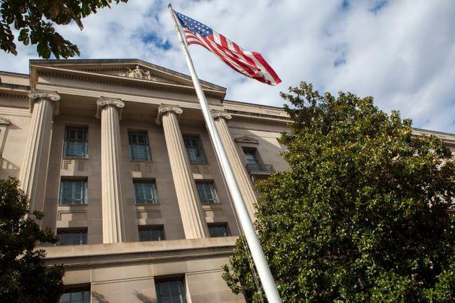 Le département de la Justice américaine, à Washington aux Etats-Unis