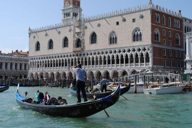 Venise face au palais des doges