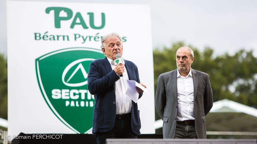 Le président de la Section Bernard Pontneau et le vice-président Yannick Le Garrérès