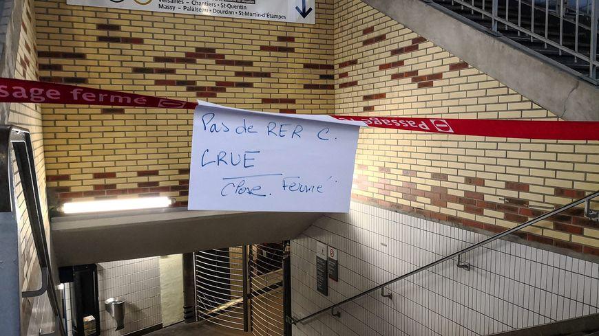 Rer C fermé dans Paris pour cause de crue