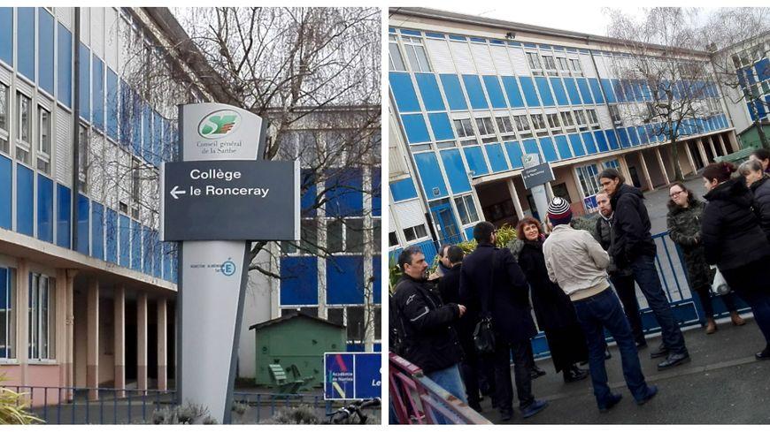 Une trentaine de parents et enseignant s'est rassemblée ce lundi à la mi-journée devant le collège Le Ronceray