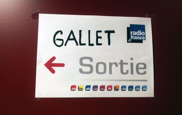 Affiche de grève à Radio France en avril 2015