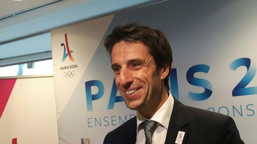 Tony Estanguet, désormais président du COJO, le comité d'organisation des Jeux olympiques de Paris en 2024