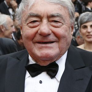 """Claude Lanzmann au Festival de Cannes pour la présentation de son film """"Le dernier des Injustes"""" le 19 mai 2013."""