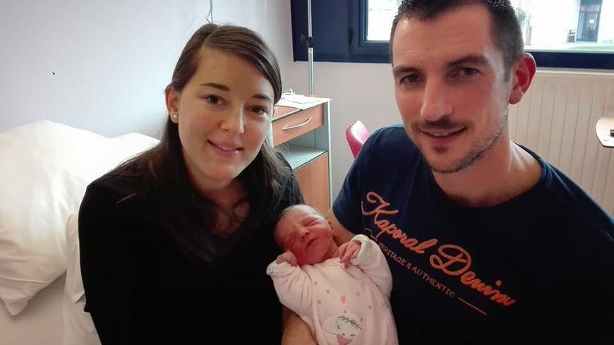 Marie et Alexis ont passé toute la journée et la nuit du 31 décembre à l'hôpital pour la naissance de Chloé