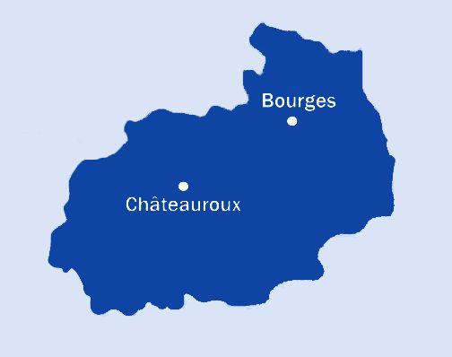 230.000 habitants dans l'Indre + 310.000 dans le Cher = un ensemble à plus de 500.000 berrichons