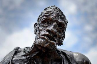 Sculpture du Monstre de Frankenstein réalisée en bronze par le groupe KLAT (Genève)